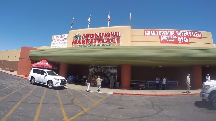 Mega international food store now open in the for What grocery stores are open today