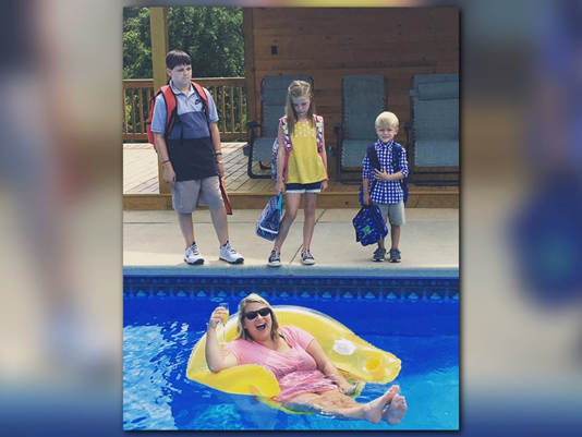 This Moms Hilarious First Day of School Photo Is Going Viral