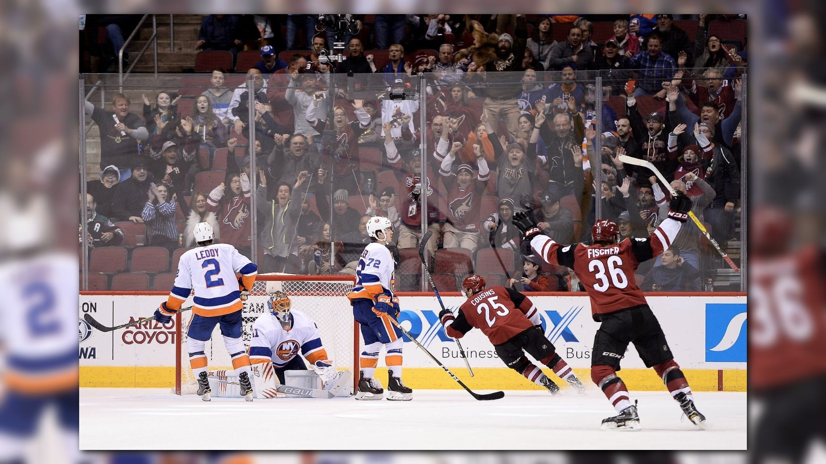 Coyotes beat Islanders with overtime winner by Cousins