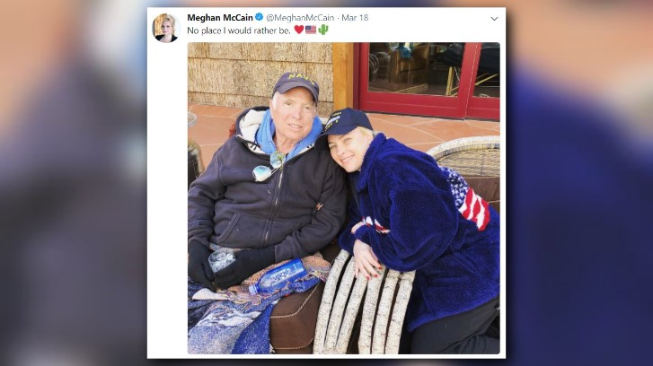 12news.com   Meghan McCain shares new photo with father ...